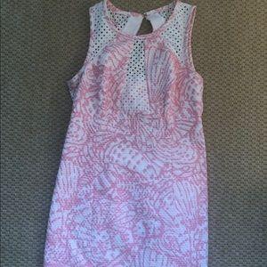 Lilly Pulitzer Pink & White Shell Print Dress